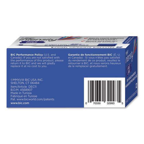 Intensity Bold Tank-Style Dry Erase Marker, Broad Chisel Tip, Blue, Dozen. Picture 4