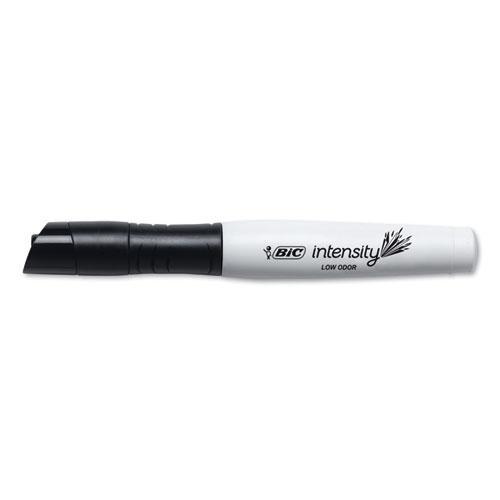 Intensity Low Odor Dry Erase Marker, Broad Chisel Tip, Black, Dozen. Picture 3