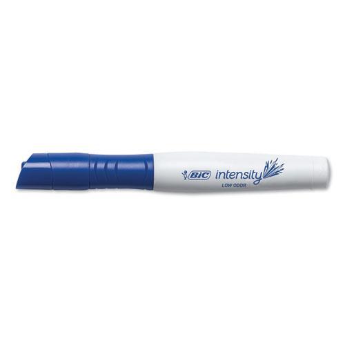 Intensity Low Odor Dry Erase Marker, Broad Chisel Tip, Blue, Dozen. Picture 2