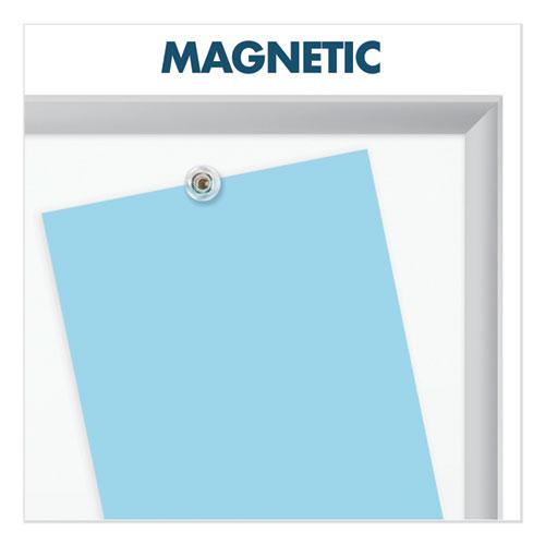 Classic Series Porcelain Magnetic Board, 36 x 24, White, Silver Aluminum Frame. Picture 4