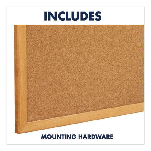 Classic Series Cork Bulletin Board, 48 x 36, Oak Finish Frame. Picture 8