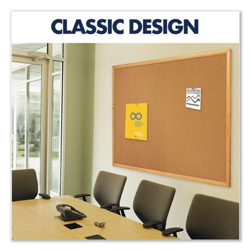 Classic Series Cork Bulletin Board, 48 x 36, Oak Finish Frame. Picture 5