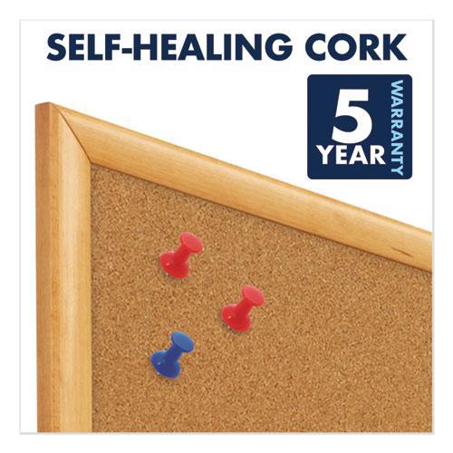 Classic Series Cork Bulletin Board, 48 x 36, Oak Finish Frame. Picture 7