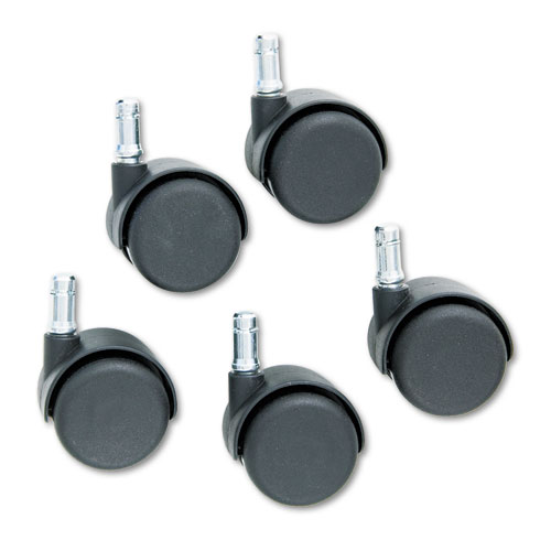 Safety Casters, Standard Neck, Nylon, B Stem, 110 lbs/Caster, 5/Set. Picture 2