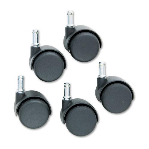 Safety Casters, Standard Neck, Nylon, K Stem, 110 lbs/Caster, 5/Set. Picture 2