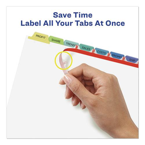 Print and Apply Index Maker Clear Label Dividers, 8 Color Tabs, Letter, 25 Sets. Picture 5