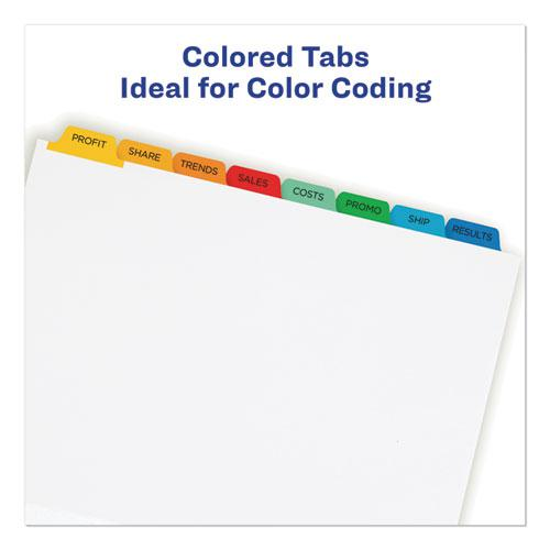 Print and Apply Index Maker Clear Label Dividers, 8 Color Tabs, Letter, 5 Sets. Picture 5