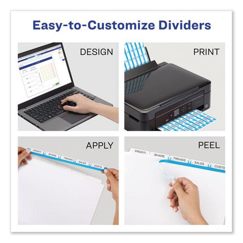 Print and Apply Index Maker Clear Label Dividers, 5 Color Tabs, Letter, 5 Sets. Picture 2