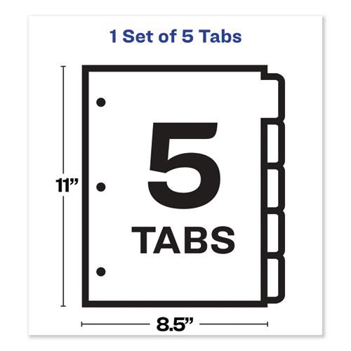 Print and Apply Index Maker Clear Label Dividers, 5 Color Tabs, Letter. Picture 3