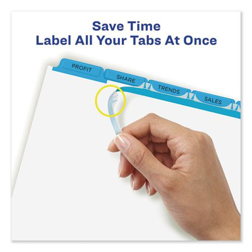 Print and Apply Index Maker Clear Label Dividers, 5 Color Tabs, Letter, 5 Sets. Picture 6