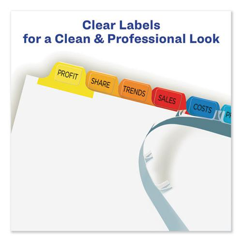 Print and Apply Index Maker Clear Label Dividers, 12 Color Tabs, Letter, 5 Sets. Picture 3