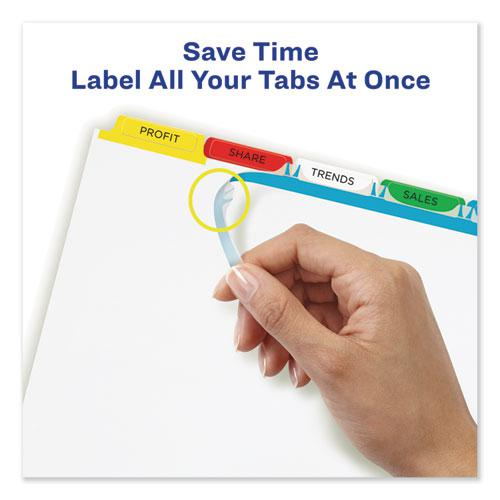 Print and Apply Index Maker Clear Label Dividers, 5 Color Tabs, Letter. Picture 2