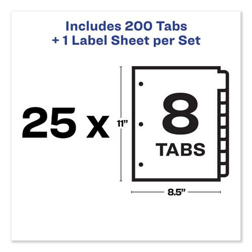 Print and Apply Index Maker Clear Label Dividers, 8 Color Tabs, Letter, 25 Sets. Picture 6