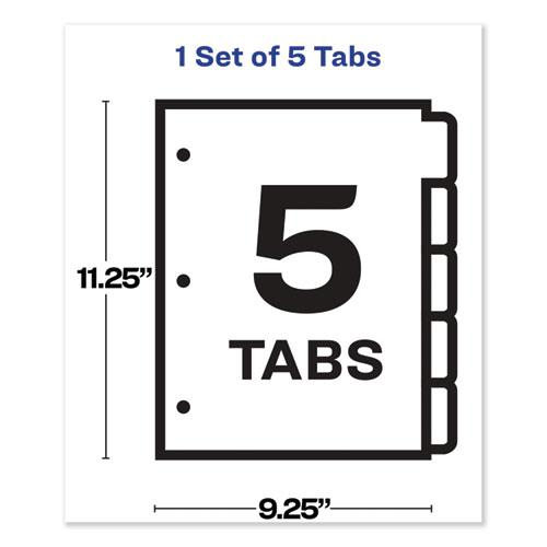 Print and Apply Index Maker Clear Label Sheet Protector Dividers with White Tabs, 5-Tab, 11 x 8.5, White, 1 Set. Picture 4