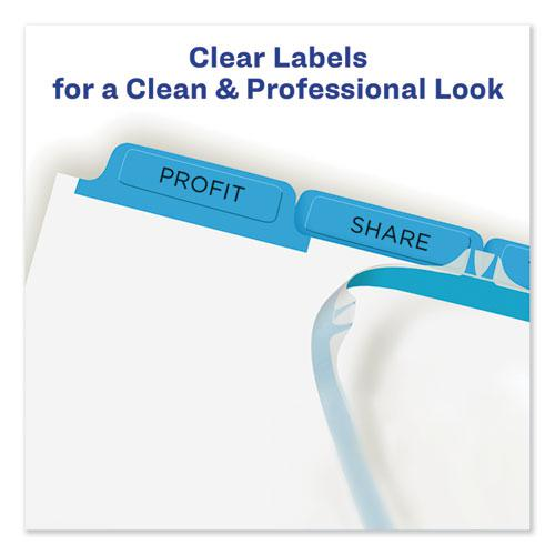Print and Apply Index Maker Clear Label Dividers, 5 Color Tabs, Letter, 5 Sets. Picture 3
