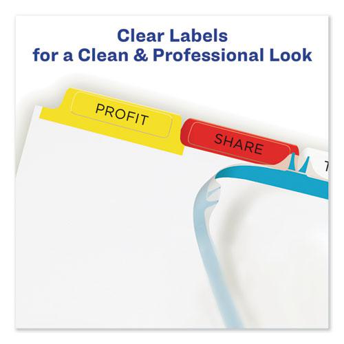 Print and Apply Index Maker Clear Label Dividers, 5 Color Tabs, Letter. Picture 4