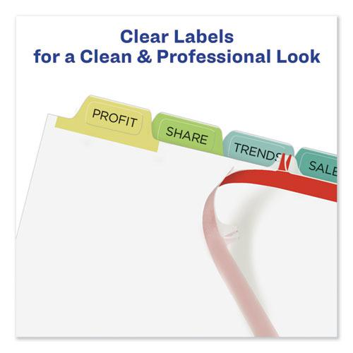 Print and Apply Index Maker Clear Label Dividers, 8 Color Tabs, Letter, 5 Sets. Picture 4