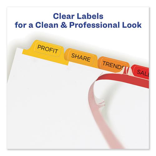 Print and Apply Index Maker Clear Label Dividers, 8 Color Tabs, Letter, 5 Sets. Picture 2