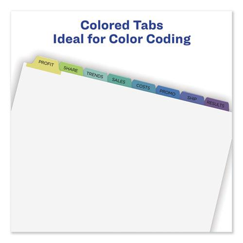 Print and Apply Index Maker Clear Label Dividers, 8 Color Tabs, Letter, 5 Sets. Picture 7