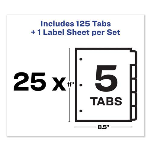 Print and Apply Index Maker Clear Label Dividers, 5 Color Tabs, Letter, 25 Sets. Picture 7