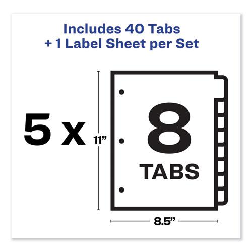 Print and Apply Index Maker Clear Label Dividers, 8 Color Tabs, Letter, 5 Sets. Picture 6