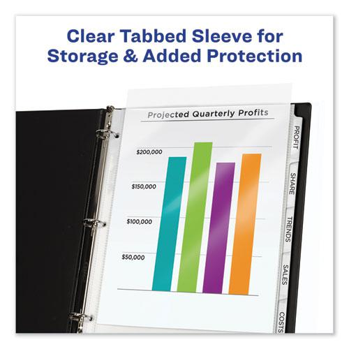 Print and Apply Index Maker Clear Label Sheet Protector Dividers with White Tabs, 8-Tab, 11 x 8.5, Clear, 1 Set. Picture 4