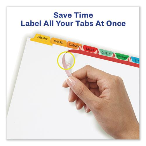 Print and Apply Index Maker Clear Label Dividers, 8 Color Tabs, Letter, 5 Sets. Picture 3