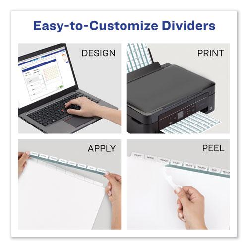 Print and Apply Index Maker Clear Label Dividers, 12 Color Tabs, Letter, 5 Sets. Picture 2