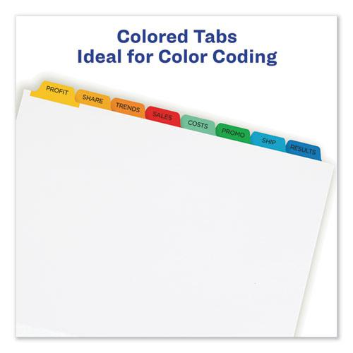 Print and Apply Index Maker Clear Label Dividers, 8 Color Tabs, Letter. Picture 7