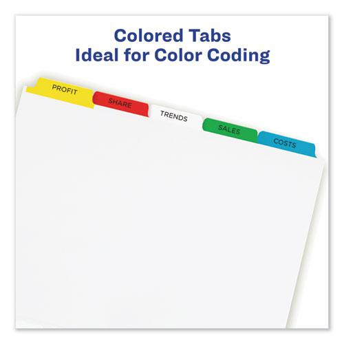 Print and Apply Index Maker Clear Label Dividers, 5 Color Tabs, Letter, 25 Sets. Picture 6