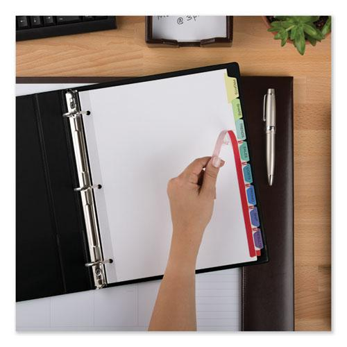 Print and Apply Index Maker Clear Label Dividers, 8 Color Tabs, Letter, 25 Sets. Picture 2