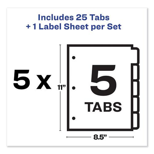 Print and Apply Index Maker Clear Label Dividers, 5 Color Tabs, Letter, 5 Sets. Picture 7