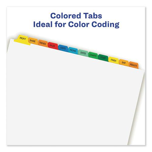 Print and Apply Index Maker Clear Label Dividers, 12 Color Tabs, Letter, 5 Sets. Picture 6