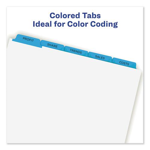 Print and Apply Index Maker Clear Label Dividers, 5 Color Tabs, Letter, 5 Sets. Picture 4