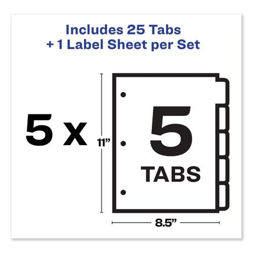 Print and Apply Index Maker Clear Label Dividers, 5 Color Tabs, Letter, 5 Sets. Picture 5