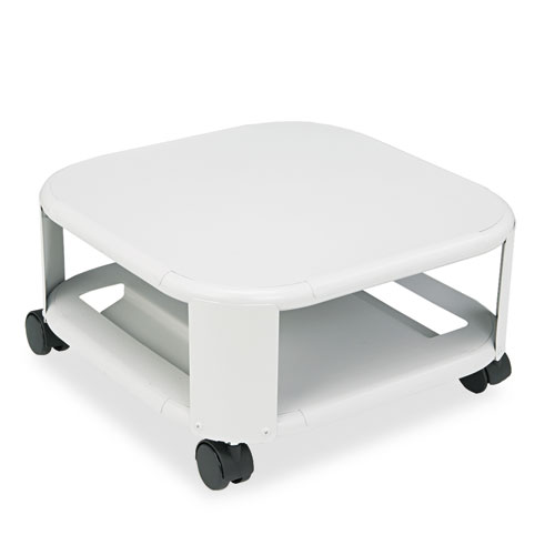 Mobile Printer Stand, Two-Shelf, 17.8w x 17.8d x 8.5h, Platinum. Picture 1