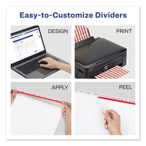 Print and Apply Index Maker Clear Label Dividers, 8 Color Tabs, Letter. Picture 3
