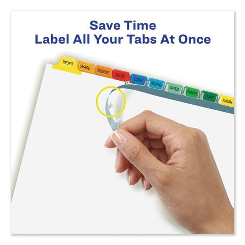 Print and Apply Index Maker Clear Label Dividers, 12 Color Tabs, Letter, 5 Sets. Picture 4