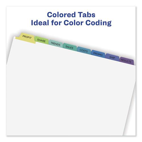 Print and Apply Index Maker Clear Label Dividers, 8 Color Tabs, Letter, 25 Sets. Picture 7
