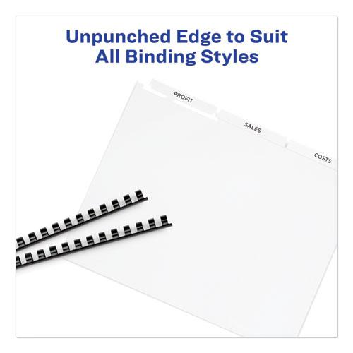 Print and Apply Index Maker Clear Label Unpunched Dividers, 3Tab, Letter, 5 Sets. Picture 5
