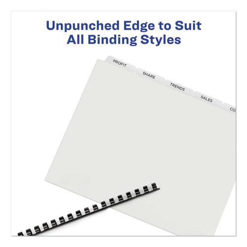 Print and Apply Index Maker Clear Label Unpunched Dividers with Printable Label Strip, 5-Tab, 11 x 8.5, Clear, 5 Sets. Picture 3