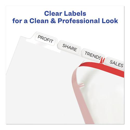 Print and Apply Index Maker Clear Label Unpunched Dividers with Printable Label Strip, 8-Tab, 11 x 8.5, Clear, 5 Sets. Picture 5