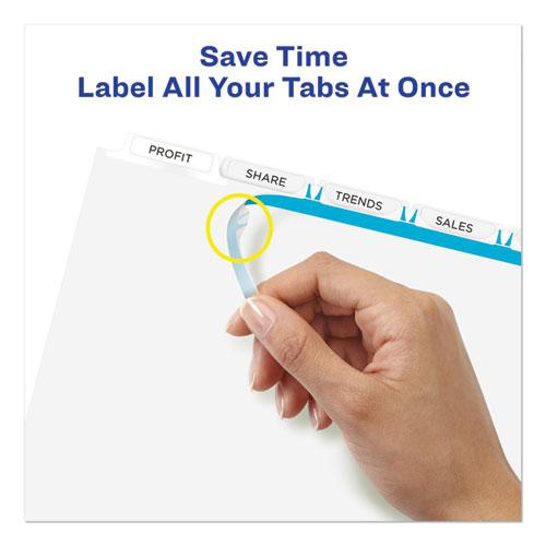 Print and Apply Index Maker Clear Label Plastic Dividers with Printable Label Strip, 5-Tab, 11 x 8.5, Translucent, 5 Sets. Picture 7