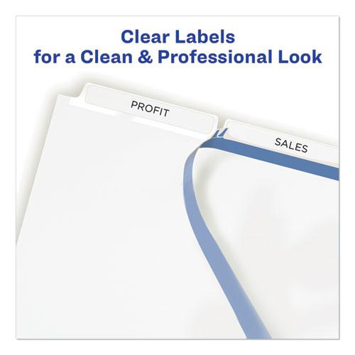 Print and Apply Index Maker Clear Label Unpunched Dividers, 3-Tab, Ltr, 25 Sets. Picture 2