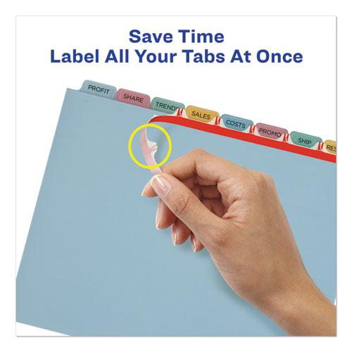 Print and Apply Index Maker Clear Label Plastic Dividers with Printable Label Strip, 8-Tab, 11 x 8.5, Translucent, 5 Sets. Picture 4