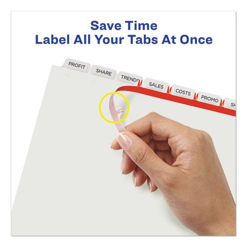 Print and Apply Index Maker Clear Label Unpunched Dividers with Printable Label Strip, 8-Tab, 11 x 8.5, Clear, 5 Sets. Picture 4