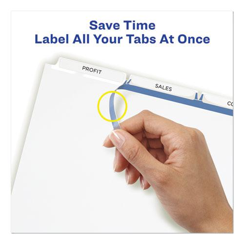 Print and Apply Index Maker Clear Label Unpunched Dividers, 3Tab, Letter, 5 Sets. Picture 2