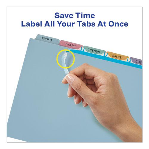 Print and Apply Index Maker Clear Label Plastic Dividers with Printable Label Strip, 5-Tab, 11 x 8.5, Translucent, 5 Sets. Picture 5