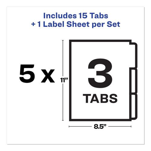 Print and Apply Index Maker Clear Label Unpunched Dividers, 3Tab, Letter, 5 Sets. Picture 7