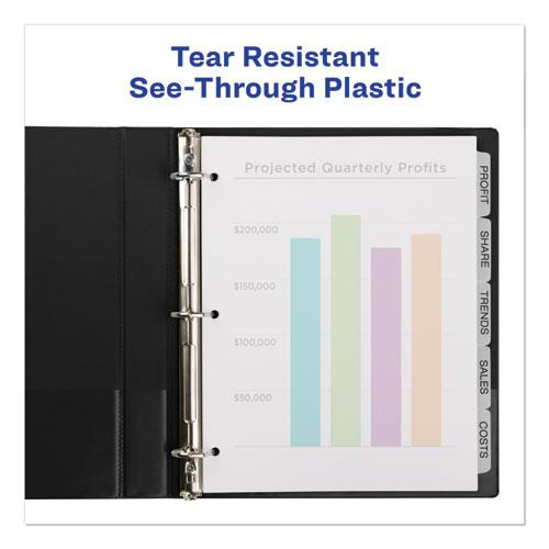 Print and Apply Index Maker Clear Label Plastic Dividers with Printable Label Strip, 5-Tab, 11 x 8.5, Translucent, 1 Set. Picture 5